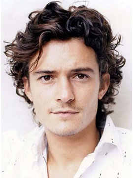 Custom Orlando Bloom Hairstyle Short Curly 100 Remy Human Hair Full Lace Wig 6 Inches