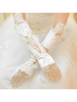 Luxurious Flower Lace Wedding Glove