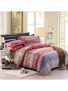 Top Range Classic Jacquard 100 Cotton 4 Piece Bedding Sets