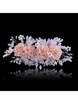 Ladylike Pearl Head Flowers Wedding Dress Accessories Wedding Hairflower