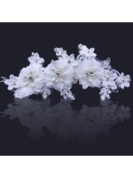 Ladylike Flower High Grade Manual Bridal Headpiece With Pearl