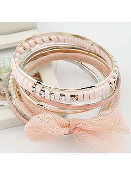 Bow Knot Pearl Multilayers Bangle