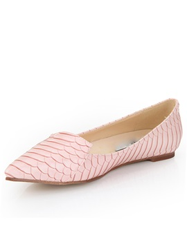 Pink Fish Print Point Toe Flats