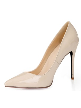 Soft Nude Point Toe Stiletto Heel Pumps