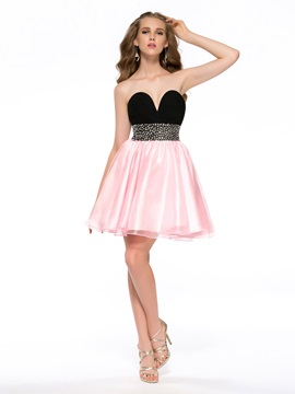 New A Line Sweetheart Beading Short Homecoming Dress