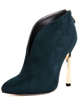Green Pointed Toe Stiletto Heel Pumps