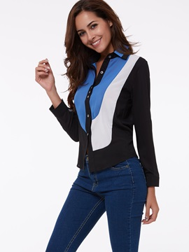 Professional Style Chiffon Pieced Shirt