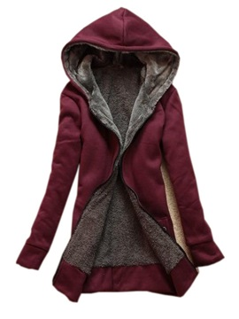 2014autumn Ladys Leisure Thicken Hooded Long Trench Coat