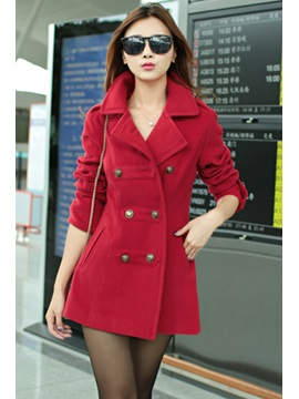 New Stylish Lapel Double Breasted Overcoat