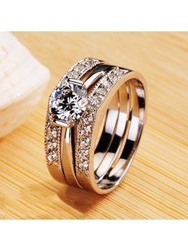 Eight Hearts Eight Arrows Diamond Shaped Pt950 Engagement Wedding Ring Set