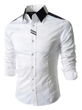 Solid Color Lapel Single Breasted Shirt