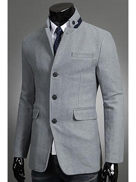 Pocket Three Button Casual Mens Overcoat
