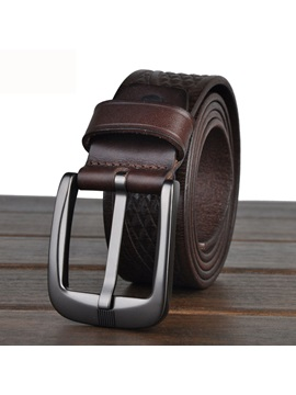 Geometric Textured Pin Buckle Belt