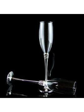 Luxurious Crystal Theme Toasting Flutes Set Of 2