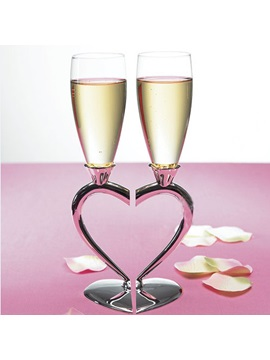 Personalized Heart Design Toasting Flute