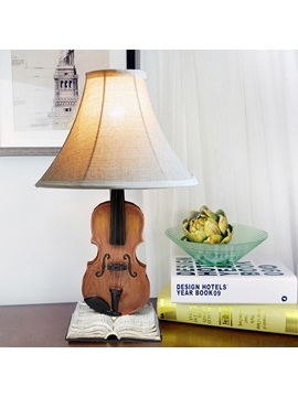 Creative Rural Sitting Room Bedroom Violin Lamp