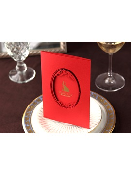 Red Wrap Pocket Wedding Invitation Cards 20 Pieces One Set