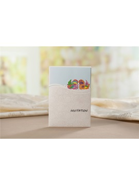 Personalized Wedding Invitation With Mandarin Duck 20 Pieces One Set