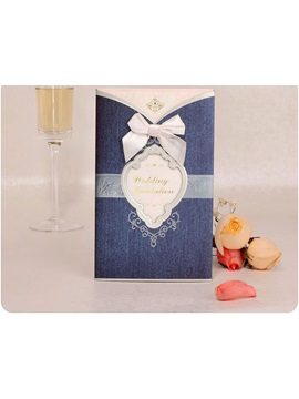Personalized Bowknot Design Wedding Invitation 20 Pieces One Set