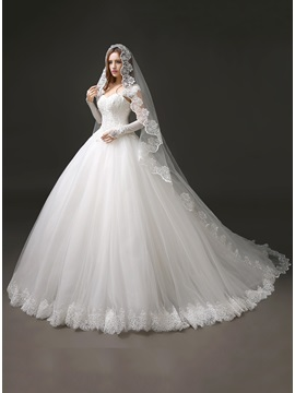 Sweetheart Beaded Appliques Cap Sleeve A Line Wedding Dress
