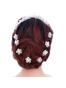 Pearl Flower Shaped Hairpins