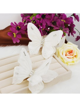 White Butterfly Shaped Hair Clip