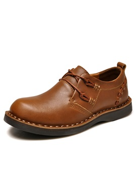 Plain Toe Solid Color Lace Up Derbies