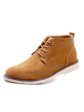 Solid Color Lace Up Martin Boots