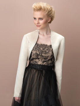 Elegant Long Sleeves Beading Evening Jacket