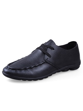 Solid Color Quilted Lace Up Mens Shoes