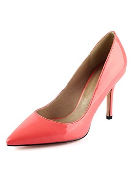 Patent Leather Solid Color Pointed Toe Womens Pumps
