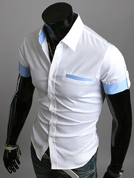 Slim Leisure Mens Short Sleeve Shirt