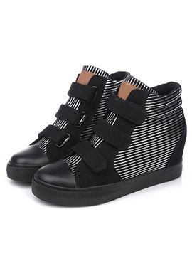 Classy Stripe Patchwork Velcro Canvas Shoes