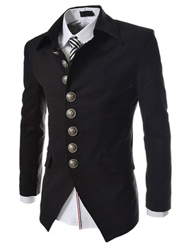 Lapel Casual Single Breasted Mens Blazer