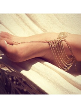 Solid Color Alloy Anklet