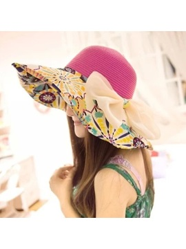 Bohemia Bowknot Decorated Sun Hat