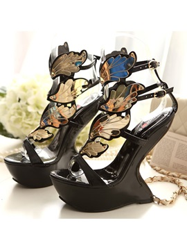Punk Style Ankle Strap Sandals
