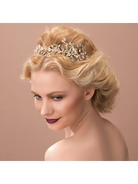 Fashion Rhinestone And Alloy Wedding Jewelry Headwear