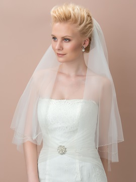 Cheap Ivory Tulle Wedding Veil