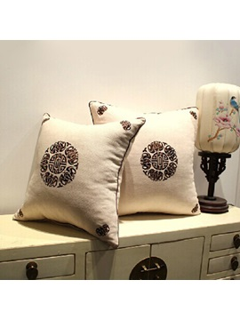 Cotton Linen Retro Printing Pillowcase