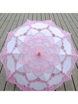 Pretty Floral Pink Lace Wedding Umbrella