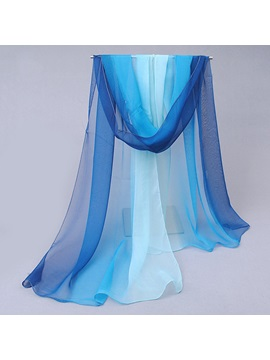 Gradient Color Chiffon Summer Shawl Scarf