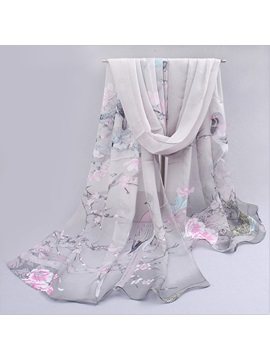 Fashion Pattern Printed Chiffon Scarf