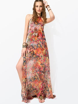 Clocolor® Split Off Shoulder Maxi Dress