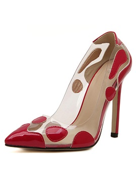Fashion Peep Toe Stiletto Heel Pumps