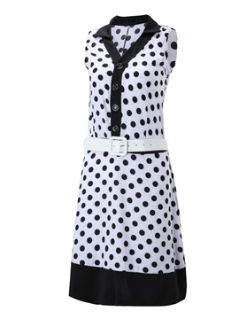 European Style Polka Dots Day Dress