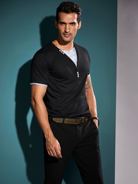 Slim Fit Short Sleeve Performance V Neck T Shirt