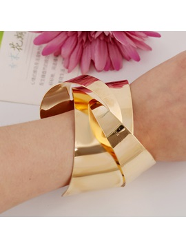 European Style Alloy Cuff Bangle