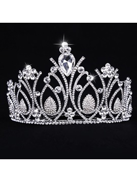 Unique Shiny Crystal Clear Rhinestone Wedding Tiara