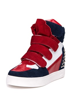 Strap Bandage Rivets Wedge Fashion Sneakers